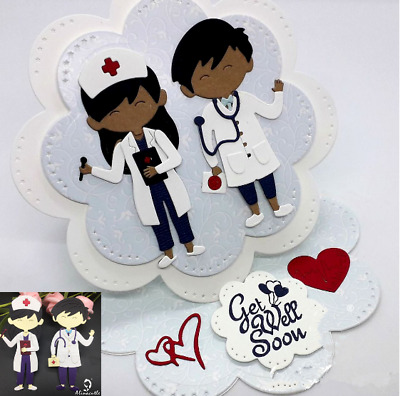 Nurse Doctor Metal Cutting Dies Stencils Scrapbook Embossing Decor Album Craft