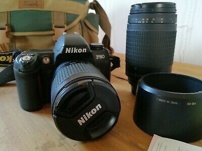 Nikon F80 35mm SLR Film Camera with 28-100mm and 70-300mm lenses