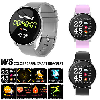 Bluetooth Smart Watch Touch Screen Wristband For iPhone Android IOS W8