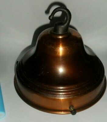 "old light shade Gallery - lge  5.5"" diam - 13.5 cm Copper & cast Brass Hook gc."