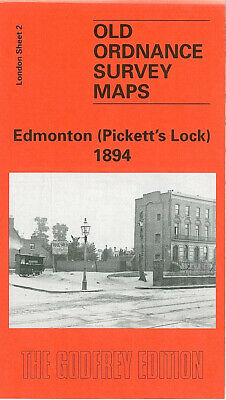Old Ordnance Survey Maps Edmonton Picketts Lock 1894 Marsh Side Chingford Marsh