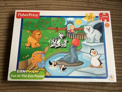 Fisher Price Little People Fun At The Zoo 20 pc Jigsaw Puzzle NEW SEALED Jumbo