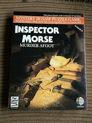 Inspector Morse The King's Men 550 Piece Mystery Jigsaw Puzzle Game NEW SEALED