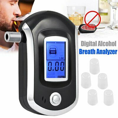 New Professional LCD Digital Breath-Alcohol Tester Breathalyser Police UU