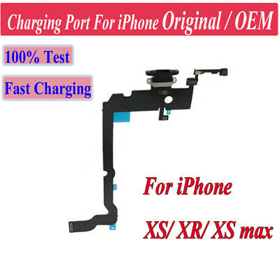 OEM For iPhone XS XR XS max Charging Port Dock USB Connector Flex Cable XQ