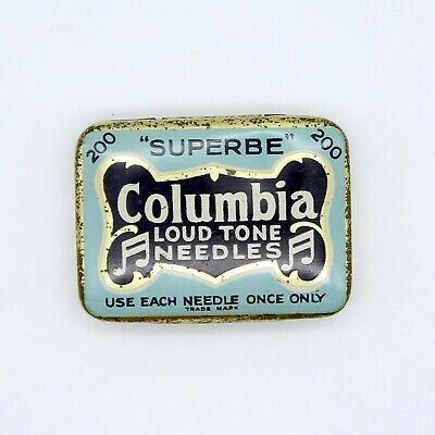 GRAMOPHONE NEEDLE TIN - Columbia - Loud Tone Needles [NEEDLE TIN]