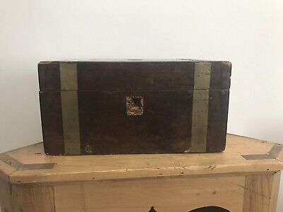 Antique Victorian Walnut Writing Slope Box