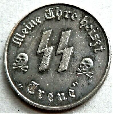 WW2 3rd REICH ERA GERMAN COLLECTORS COIN 50 GROSCHEN SS WINTERHILFE KANTINEGELD