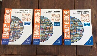 2001 Full Set Stanley Gibbons Stamps of the World Simplified Catalogue A-Z 3VOL