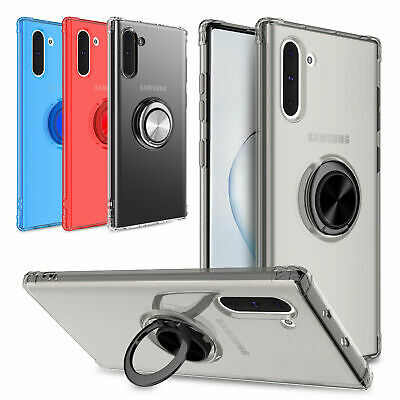 For Samsung Galaxy Note 10 Plus / 10+ 5G Ring Holder Stand Clear Slim Case Cover