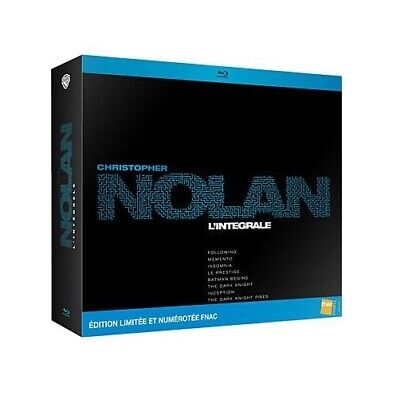 Coffret Christopher Nolan L'intégrale Blu-Ray Inclus The Dark Knight Rises neuf