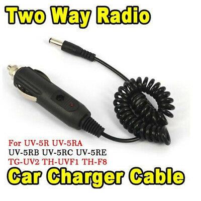 Dc12v car charger cable for dual band two way talkie for baofeng uv-5r bf-888 hf