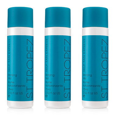 3x St Tropez Self Tan Express Bronzing Mist Professional Spray Tan Solution 75ml