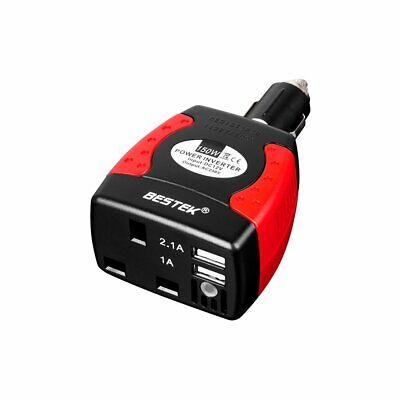 BESTEK MRI1513U-UK PLUG 150 W Power Inverter Car Laptop Charger DC 12V to AC 230