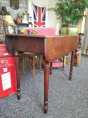 Beautiful Antique 19th Century Drop Leaf Side Table Vintage Victorian