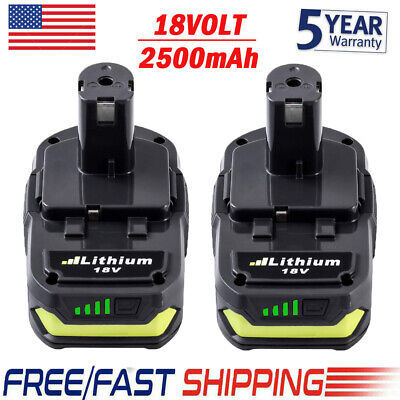 2Pack 2.5Ah For Ryobi P103 18V Max Lithium-ion ONE+ Plus P102 P108 P104 P190 NEW