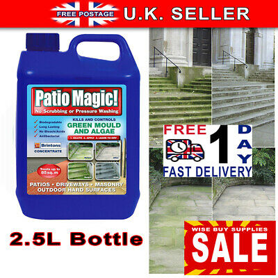 Patio Cleaner Path Magic Moss Killer Decking Fencing Green Mould Algae Remover