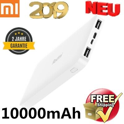 XIAOMI 10000mAh Power Bank External Charger Ladegerät 2USB Batterie Powerbank DE