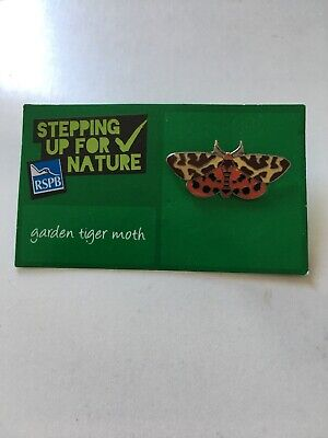 RSPB GARDEN TIGER MOTH PIN BADGE - Stepping Up For Nature Series