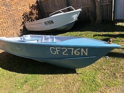 3.6M fiberglass/wooden boat with rego, A1 cond - will sell to the high bidder.