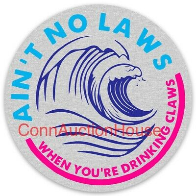 White Claw Hard Seltzer Sticker Ain't No Laws When You're Drinking Claws