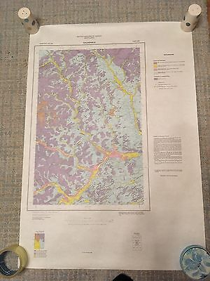 GALASHIELS Geological Survey Map 1:50000 drift sheet 25W