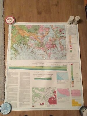 BURY ST EDMUNDS Geological Survey Map 1:50000  SOLID & DRIFT sheet 189