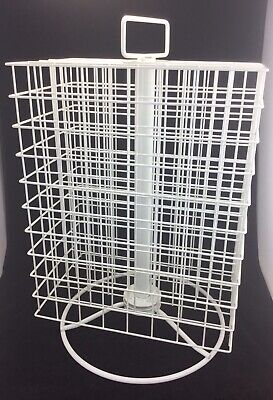 Craft Acrylic Paint Storage Rack Wire Carousel 160 Bottles White