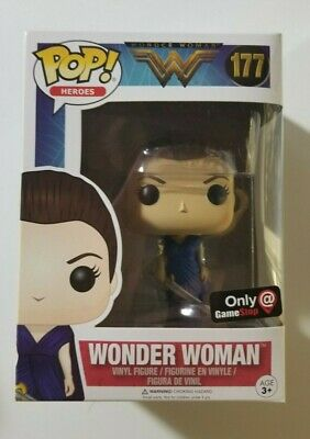 Wonder Woman Blue Dress Funko Pop #177 GameStop Exclusive