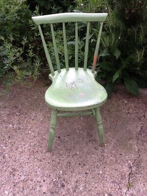 Victorian Pine Painted Childs Chair All Original Condition.