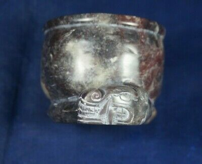 Peruvian Pre Columbian Chavin Style -Ceremonial Vessel- carved in natural stone