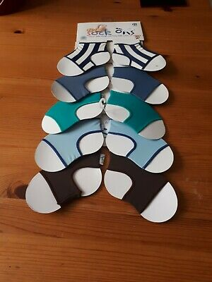 Sock ons 6-12 months nautical, blueberry, teal, baby blue, chocolate