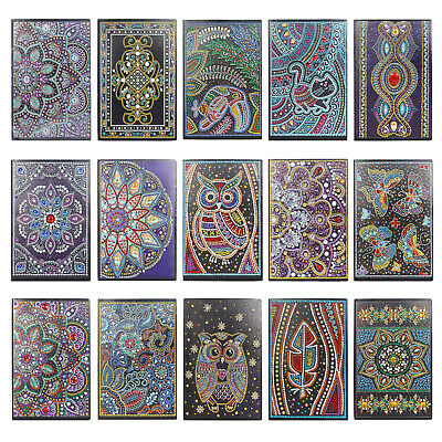5D DIY Special Shaped Diamond Painting 50Pages A5 Notebook Diary Book Home Art