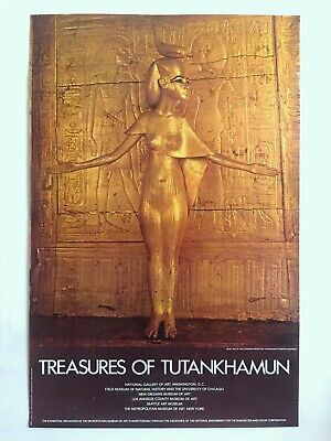 "Rare Vintage 1976 ""Treasures Of Tutankhamun"" Iconic Lrg Museum Exhibition Poster"
