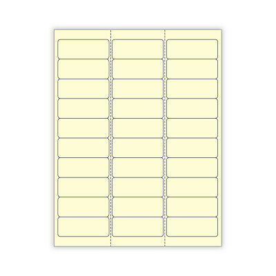 "6 SHEETS 1/""x2-5//8  BLANK YELLOW STICKERS,LABEL,ADDRESS LABELS,PACKAGING,CRAFTS"