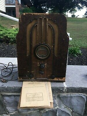 Vintage Philco Tombstone Radio Model 37-610 Project Restore or Parts