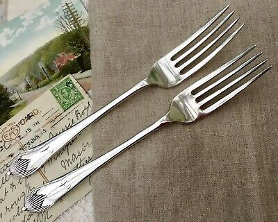 MAPPIN & WEBB FORK SET x2 QUEEN ANNE GEORGIAN ANTIQUE A1 SILVER PLATED CUTLERY