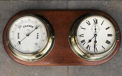 Sestrel Clock and Barometer (Brass)
