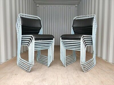 Vintage PEL Vinyl Stacking School Chairs - Cafe Bar Restaurant - 12 Available