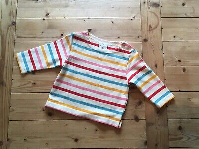 Mon Petit Baby Long Sleeve Colourful Striped Top 0-3 Months