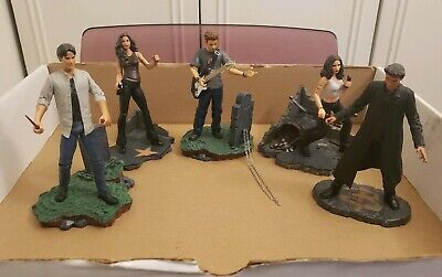 Buffy the Vampire Slayer LOT OF 5 Vintage Action Figures - Xander Angel Faith ++