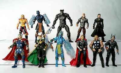 "Marvel Universe 3.75"" Huge Lot of 11 Thor Loki Odin Asgard Action Figures Hasbro"
