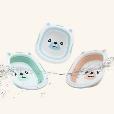 Baby Fold-able Silicone Bathtub Basin Portable Face Foot Basin Children Washing
