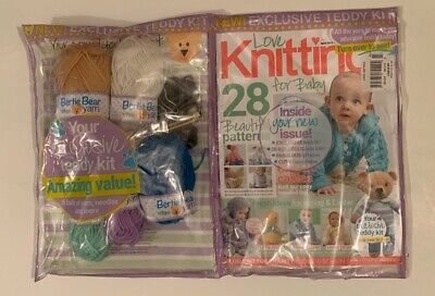 Love Knitting For Baby April 2019 Issue 73 Exclusive Teddy Bear Yarn Kit NEW
