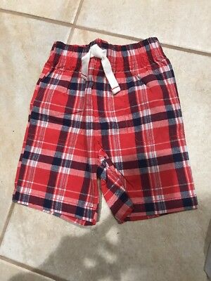 Boys Carters Red Blue Plaid Shorts-4T- NWOT.  Adorable!  Summer!