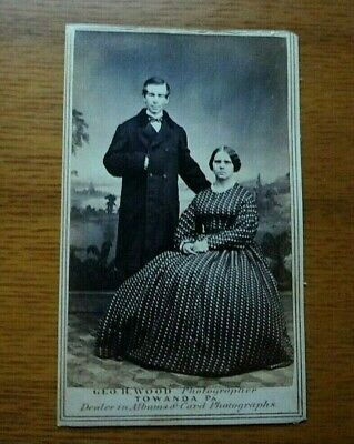 Antique Cabinet Card - Stately Husband and Wife