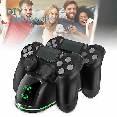 for PS4 Controller Fast Charging Charger Station Stand Dualshock USB Port US