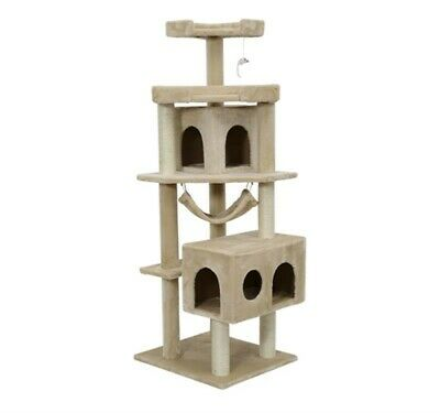 Cat Tree Condo Scratching Post Furniture Scratcher House Pet Play Exercise 65.2""
