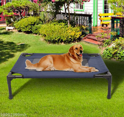 Elevated Pet Bed Dog Cat Cot Cooling Camping Pet Cozy Lounger Sleeper