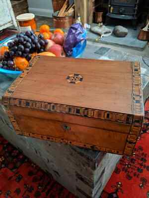 Vintage Walnut Tunbridge ware Sewing Box